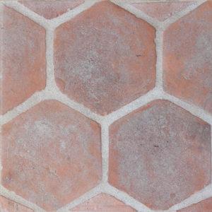 Old Castillo Terracotta -Hexagon, Rustico, Natural