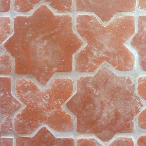 Old Castillo Terracotta -Star & Cross, Rustico, Natural