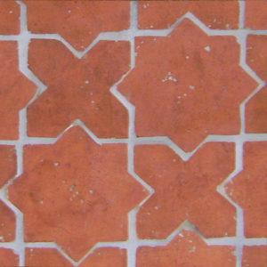 Old Castillo Terracotta -Star & Cross, Smooth, Natural