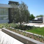 Grey Basalt Exterior Planter & Fountain