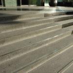 Grey Basalt Stair Treads in Bush-Hammered