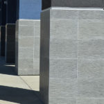 Grey Basalt Commercial Cladding in Downpour