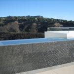 Grey Basalt Fountain in Flamed Wave