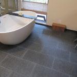 Grey Basalt Bathroom in flamed finish