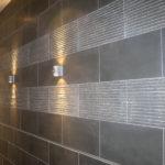 Grey Basalt Wall in Honed & Flamed Wave