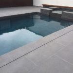 Grey Basalt Exterior Pool in Sandblasted