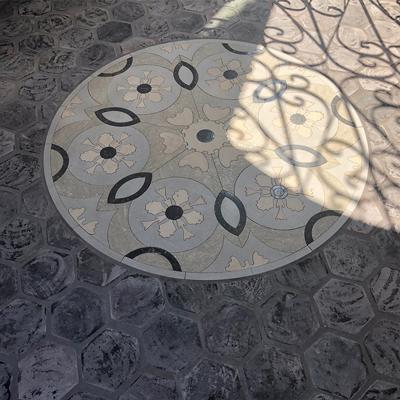 Bespoke Floors Medallion B on Floor
