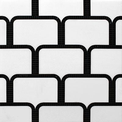 Waterjet Mosaic Brick Bond