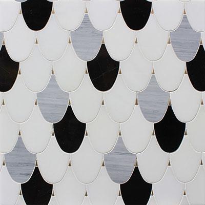 Waterjet Mosaic palmette